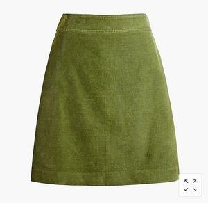 WHITE Corduroy Mini Skirt